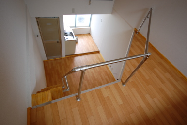 ロフト付きアパート ロフトから階下