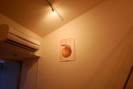 ロフトの美術館風のお部屋 ライティングレールからのスポット照明