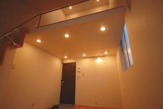 ロフト付きアパート天井