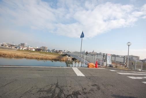 大阪へ園田から自転車で 善法寺橋
