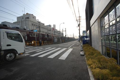 大阪へ園田から自転車で 神崎川手前