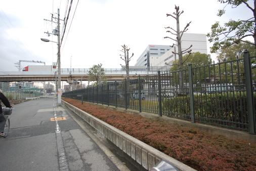 大阪へ園田から自転車で 十三手前