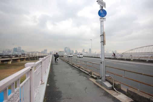 大阪へ園田から自転車で 十三大橋
